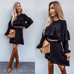 Γυναικείο φόρεμα με σχέδιο 6028 μαύρο