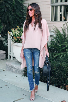 Γυναικείο μπλουζοφόρεμα 3561 ροζ
