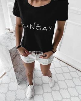 Γυναικείο κοντομάνικο 0090913 μαύρο