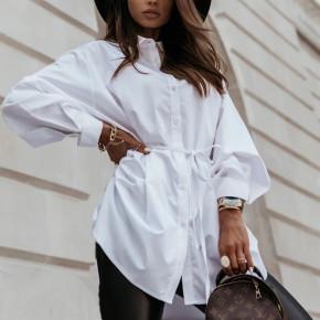 Γυναικεία πουκαμίσα με κορδόνι 3171 άσπρη