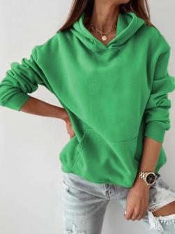 Γυναικείο φούτερ με κουκούλα 1235 πράσινο