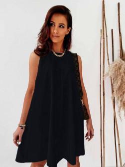 Γυναικείο χαλαρό φόρεμα 5748 μαύρο