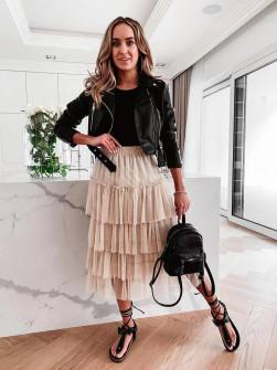 Γυναικεία τούλινη φούστα 5485 μπεζ