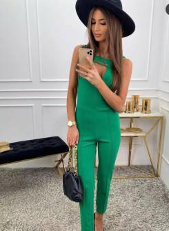 Γυναικεία στιλάτη ολόσωμη φόρμα 21123 πράσινη