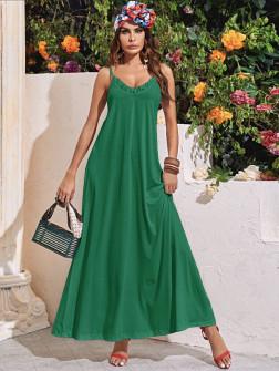 Γυναιείο μακρύ φόρεμα 5156 πράσινο