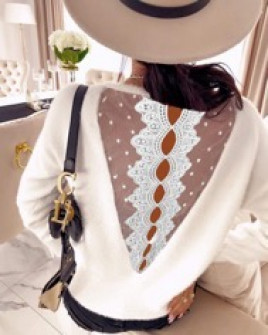 Γυναικεία μπλούζα με εντυπωσιακή πλάτη 3251 άσπρη