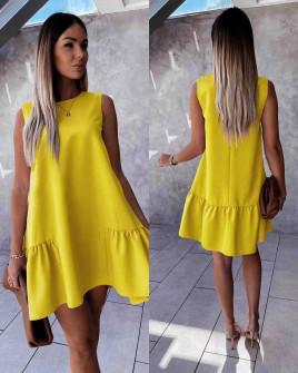 Γυναικείο χαλαρό φόρεμα 5684 κίτρινο