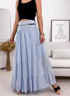 Γυναικεία φούστα με ζώνη 3863 γαλάζια