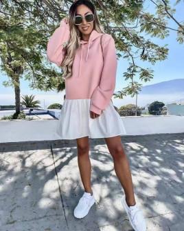 Γυναικείο μπλουζοφόρεμα 20644 ροζ