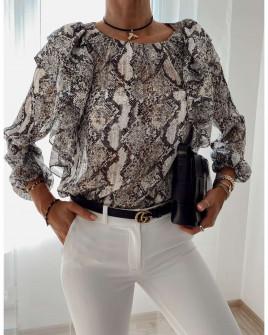 Γυναικεία μπλούζα με print 4280 γκρι