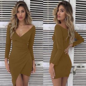 Γυναικείο εφαρμοστό φόρεμα 7106 καμηλό