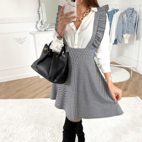 Γυναικεία φούστα με τιράντες 501701 πτι καρό