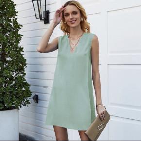 Γυναικείο φόρεμα με βαθύ ντεκολτέ 5198 μέντα