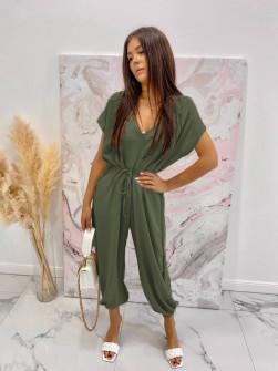 Γυναικεία χαλαρή ολόσωμη φόρμα 3702 χακί