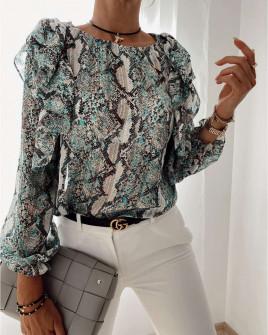 Γυναικεία μπλούζα με print 4280 μέντα