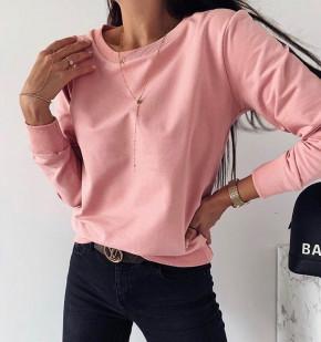 Γυναικείο μονόχρωμο φούτερ 3430 ροζ