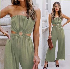 Γυναίκεια εντυπωσιακή ολόσωμη φόρμα 2354 σκούρο πράσινο
