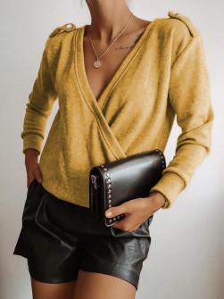 Γυναικεία μπλούζα 71548 κίτρινη
