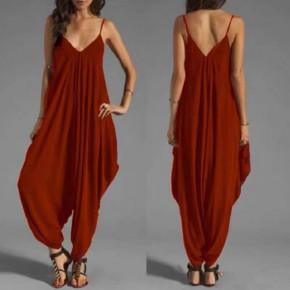 Γυναικεία χαλαρή ολόσωμη φόρμα 07878 μπορντό