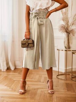 Γυναικείο χαλαρό παντελόνι 18088 μπεζ