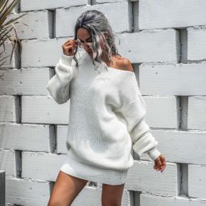 Γυναικείο εντυπωσιακό πουλόβερ 8053 άσπρο