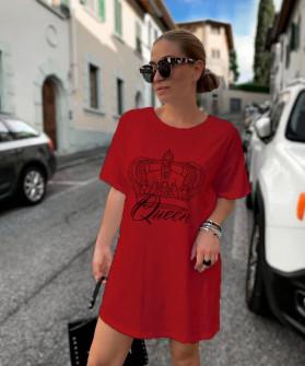 Γυναικείο μπλουζοφόρεμα 2502 μπορντό