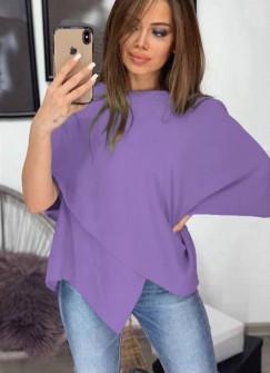 Γυναικεία εντυπωσιακή μπλούζα 3024 μωβ