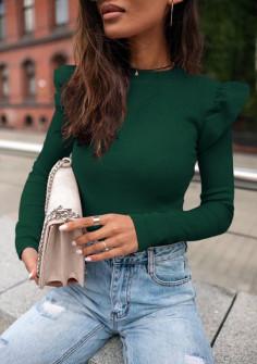 Εντυπωσιακή εφαρμοστή μπλούζα 5400 πράσινη