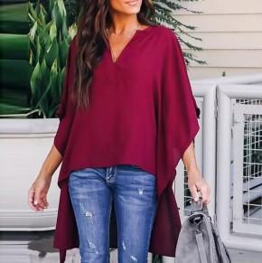 Γυναικείο μπλουζοφόρεμα 3561  μπορντό