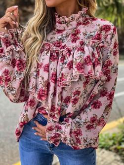 Γυναικεία μπλούζα 12489 ροζ