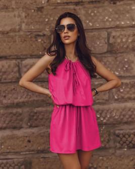 Γυναικείο κοντό φόρεμα 88199 φούξια