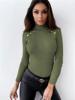 Μπλούζα ζιβάγκο 26886 σκούρο πράσινο