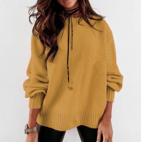 Γυναικείο πουλόβερ 2729 μουσταρδί