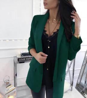Γυναικείο σακάκι 3228 σκούρο πράσινο