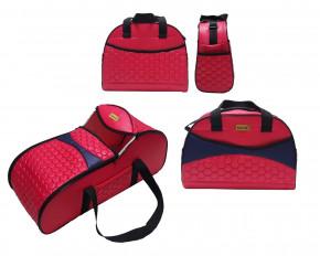 Σετ πορτ μπεμπέ και τσάντα 00814 κόκκινο