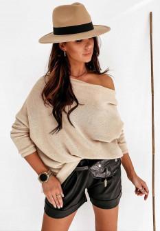 Γυναικεία έξωμη μπλούζα 2599 μπεζ