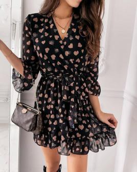 Γυναικείο φόρεμα με print 357103