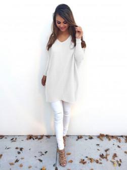 Γυναικείο μπλουζοφόρεμα 13821 άσπρο