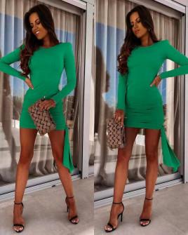 Γυναικείο εφαρμοστό φόρεμα 8058 πράσινο
