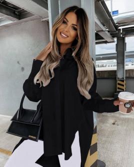 Γυναικείο χαλαρό πουκάμισο 5929 μαύρο