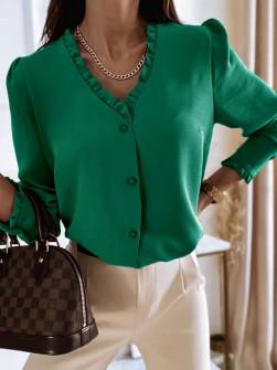 Γυναικείο μοντέρνο πουκάμισο 5993 πράσινο