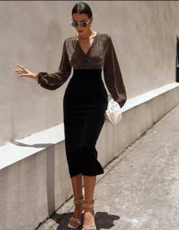 Γυναικείο εντυπωσιακό μίντι φόρεμα  21835