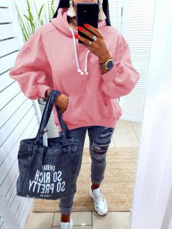 Γυναικείο φούτερ 10555 ροζ