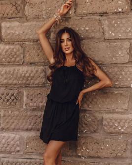 Γυναικείο κοντό φόρεμα 88199 μαύρο
