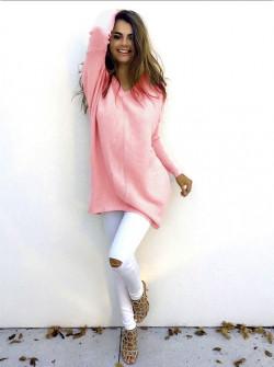 Γυναικείο μπλουζοφόρεμα 13821 ροζ