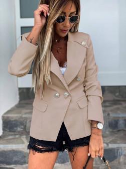 Γυναικείο κομψό σακάκι με φόδρα 5272 μπεζ