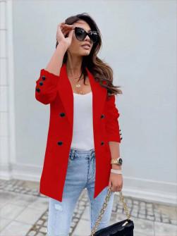 Γυναικείο σακάκι με φόδρα 5863 κόκκινο