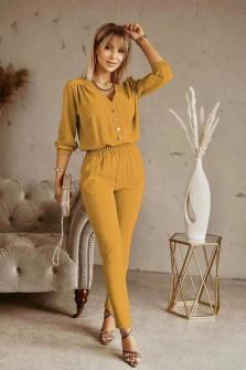 Σετ σετ πουκάμισο και παντελόνι 21244 κίτρινο
