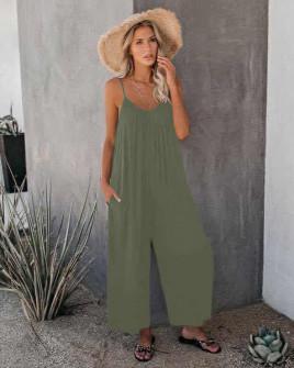 Γυναικεία χαλαρή ολόσωμη φόρμα 5165 σκούρο πράσινο