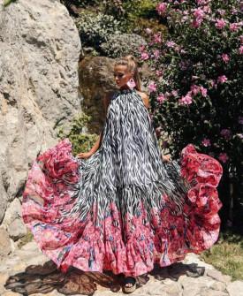 Γυναικείο εντυπωσιακό χαλαρό φόρεμα 2122201
